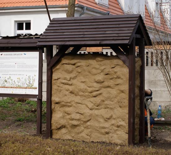 Ścianki gliniane dla pszczół samotnic